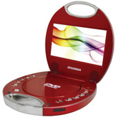 SYLVANIA SDVD7046-RED 7 Portable DVD Players with Integrated Handle (Red)