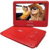 SYLVANIA SDVD9020B-RED 9 Portable DVD Players with 5-Hour Battery (Red)