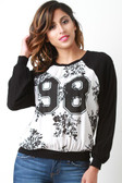 Floral 98 Raglan Sweater Top