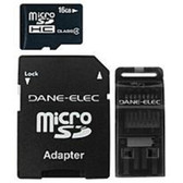 Dane-Elec MJ-3IN116G-C Mobile Junkie 16 GB MicroSD 3-in-1 Mobile Kit - MJ-3IN116G-C - TFL-MJ-3IN116G-C-NEW-OPEN-BOX