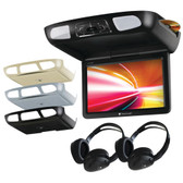 PLANET AUDIO P10.1ES 10.1 Ceiling-Mount TFT DVD Player with Built-in IR & FM Transmitters & 3 Color Housings