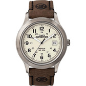 Timex Expedition Metal Field Full-Size Watch - Creme Dial/Brown Leather