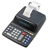 Sharp EL-2196BL Heavy Duty Color Printing Calculator with Clock and Calendar