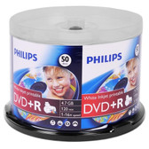 Philips 16x 4.7GB 120-Minute DVD+R Media White Inkjet Printable Media 50-Piece Spindle