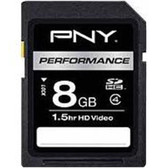 PNY P-SDHC8G4H-GEBF 8 GB Performance Class 4 SDHC Memory Card