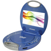 SYLVANIA SDVD7046-BLUE 7 Portable DVD Players with Integrated Handle (Blue)
