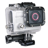 Gotop Silver Edition Full HD 1080p Sports Action Waterproof Mountable Camera w/1.5 LCD mini-HDMI & microSD Slot