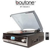 Boytone BT-16DJB-C 3-speed Stereo Turntable with 2 Built in Speakers Digital LCD Dis