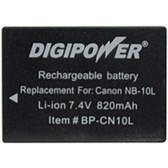 DigiPower BP-CN10L Digital Camera Battery - Replaces Canon(R) NB-10L battery pack - 820 mAh - Lithium Ion (Li-Ion) - 7.4 V DC