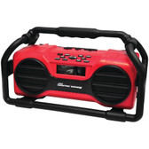 PYLE PJSR350RD Industrial BoomBoX Rugged Bluetooth(R) Speaker (Red)