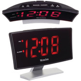 WESTCLOX 71018 Curved-Screen Large Readout Alarm Clock