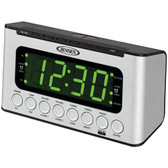 JENSEN JCR-231 Digital AM/FM Dual Alarm Clock Radio with Wave Sensor