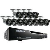 Lorex by FLIR LHV10162TC12B 16-Channel 720p HD DVR with 12 Bullet Cameras