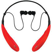 Supersonic IQ-127BT RED IQ-127 Bluetooth(R) Headphones with Microphone (Red)