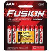 RAYOVAC 824-8CTFUS FUSION Long-Lasting Alkaline Batteries (AAA, 8 pk)