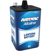 RAYOVAC 808 6-Volt Alkaline F-Cell Lantern Battery with Spring Terminals