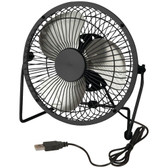 HONEY-CAN-DO OFC-04476 USB-Powered Desk Fan (Black)