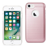 Reiko REIKO IPHONE 7 HYBRID METAL BRUSHED TEXTURE CASE IN ROSE GOLD