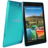 Envizen EVT10Q Quad-Core 1.2GHz 1GB 16GB 10.1 IPS Touchscreen 3G Tablet Android 4.4 w/Cams (Teal) (T-Mobile)