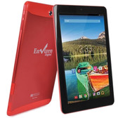 Envizen EVT10Q Quad-Core 1.2GHz 1GB 16GB 10.1 IPS Touchscreen 3G Tablet Android 4.4 w/Cams (Red) (T-Mobile)