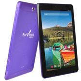 Envizen EVT10Q Quad-Core 1.2GHz 1GB 32GB 10.1 IPS Touchscreen 3G Tablet Android 4.4 w/Cams (Purple) (T-Mobile)