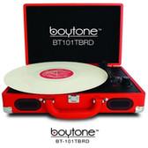 BOYTONE BT-101TBRD 5 in 1 Boytone BT-101TBRD Briefcase Record Player AC-DC Built in