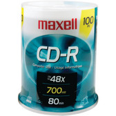 MAXELL 648200 - CDR80100S 700MB 80-Minute CD-Rs (100-ct Spindle)