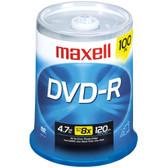 MAXELL 639016 4.7GB 120-Minute DVD+Rs (100-ct Spindle)