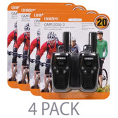 (4-Pack) Uniden GMR2035-2 22 Channel 20-Mile FRS/GMRS Two-Way Radio (Black) (2 Per Pack = 8 Total)