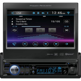 POWER ACOUSTIK PD-724B 7 Single-DIN In-Dash Motorized LCD Touchscreen DVD Receiver with Bluetooth(R)