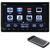 PYLE PLDN74BT 7 Double-DIN In-Dash LCD Motorized Slide-down Touchscreen DVD Receiver with Bluetooth(R)
