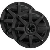 BOSS AUDIO MR62B 2-Way Full-Range Marine Speakers (6.5, Black)
