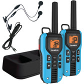 UNIDEN GMR4055-2CKHS 40-Mile 2-Way FRS/GMRS Radios with Headsets (Blue; NiMH Batteries)