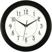 TIMEKEEPER 6424 12 Black Wall Round Wall Clock
