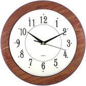 TIMEKEEPER 6415 12 Wood Grain Round Wall Clock