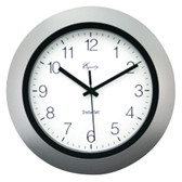 EQUITY BY LA CROSSE 40222S 10 Silver Insta-Set Wall Clock