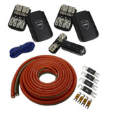 Wet Sounds 1/0 Gauge True Spec 100% OFTC Power Wiring Kit for up to 4 Amplifiers - Front