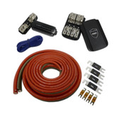 Wet Sounds 1/0 Gauge True Spec 100% OFTC Power Wiring Kit for up to 2 Amplifiers - Rear