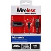 Just Wireless 3167 Dual USB Car Charger for Motorola Device