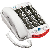 CLARITY 76560.001 Amplified Telephone with Talk Back Numbers (Black Buttons)