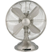 HUNTER 90400 12 Retro Personal Table Fan with Brushed Nickel Finish