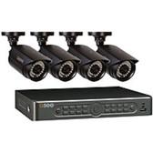 Q-See QT5682-4V3-1 4 Camera Security Surveillance System - 8 Channel DVR - 960H - Black