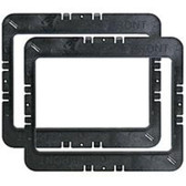M-System MR6W Speaker Mounting Ring for WG Series 6-inch In-Wall - Black