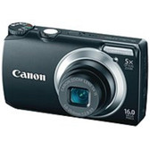 Canon PowerShot 5035B001 A3300 IS 16 Megapixels Digital Camera - 5x Optical Zoom/4x Digital Zoom - 3.0-inch LCD Display - SD Memory Card, MultiMediaCard - Black - 5035B001
