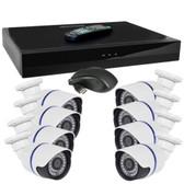 Jovision 8-Channel Network Video Recorder Kit w/8 IR 720p IP Cameras Remote Access USB & HDMI - Just Add Hard Drive