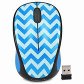 Logitech M317c 2.4GHz Wireless 3-Button Optical Scroll Mouse w/Nano USB Receiver (Teal Chevron)
