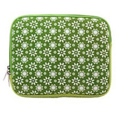 Westgear 150-1287 R-260 Carrying Sleeve for 10-inch Apple iPad - Lime Daisies Design