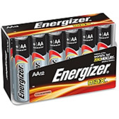 Energizer AA-Size Alkaline Battery Pack - 2850 mAh - AA - Alkaline - 1.5 V DC - 12 / Pack