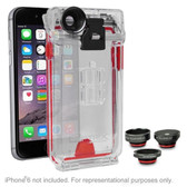 Optrix by Body Glove Pro 4 Lens Action Camera Kit for iPhone 6/6s w/Waterproof Clear Case & Interchangeable Lens System