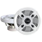 BAZOOKA MAC8100W Marine 2_way Coaxial Speakers (8, White)